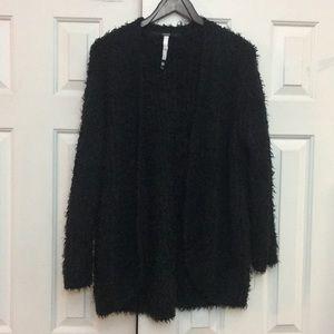 Kensie thicker Black cardigan sweater M